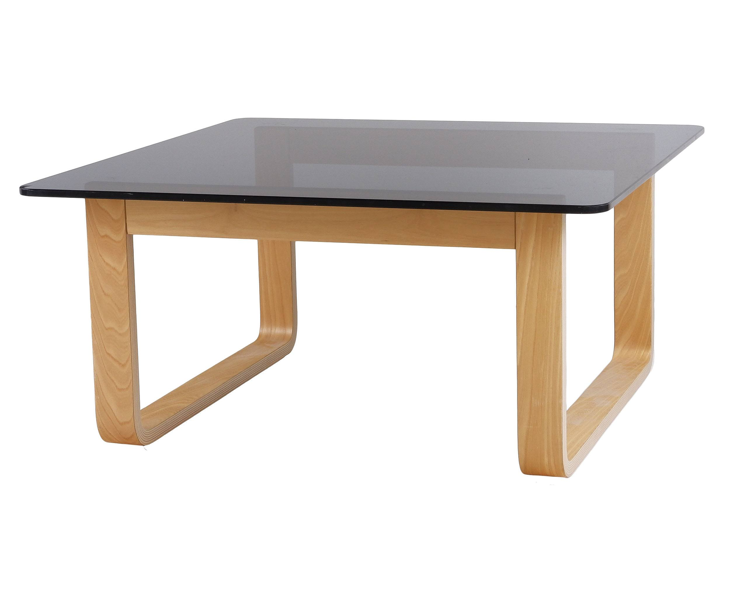 'Tessa Laminated Ply and Grey Tint Glass Table'
