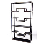 Pierre Vandel Paris Black Lacquered Extruded Aluminium Etagere with Glass Shelves