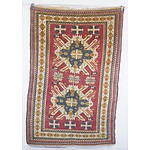 Hand Knotted Wool Pile Turkish 'Eagle' Kazak Rug