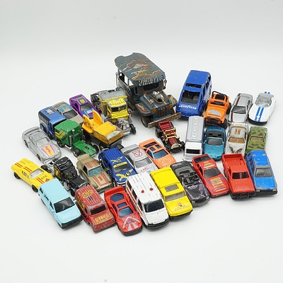 Group of Thirty Two Model Cars, Including Maisto, Playart, Summer and More