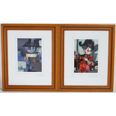 Two Rosina Wachtmeister Harlequin Offset Prints