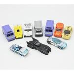 Group of Model Cars, Including Hasbro Tonka Trucks, Ertl 1992 Batmobile, Hotwheels and More