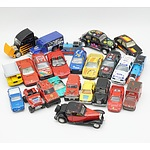 Group of Model Cars, Including Matchbox, Maisto, Hot Wheels, Majorette, Durago and More