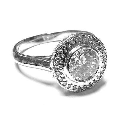 One Carat plus Halo Ring - Platinum