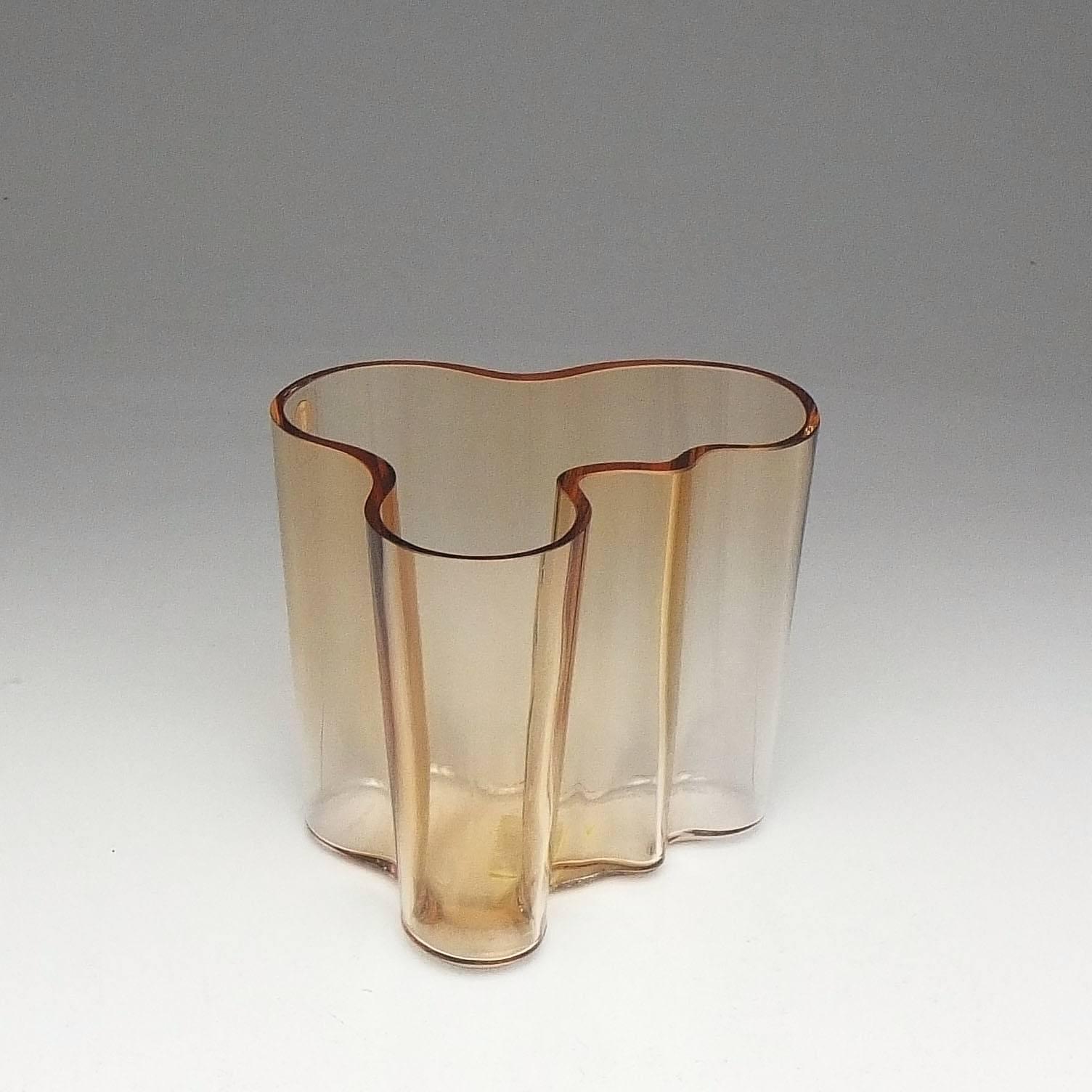 'Finnish Amber Alvar Aalto Collection Vase'