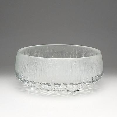 Iittala 'Ultima Thule'  Large Glass Fruit Bowl Designed by Tapio Wirkkala