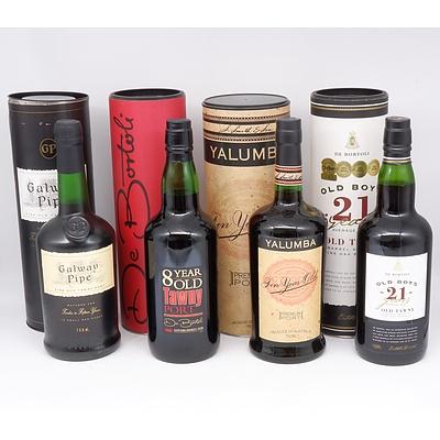 Four Bottles of Port 750ml