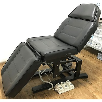 Black Vinyl Electric Adjustable Chair