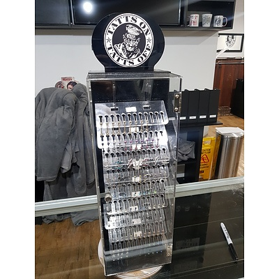 Assorted Body Jewelry and Display Case- Brand New RRP $3000+