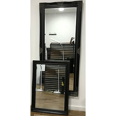 Two Framed Wall Mirrors