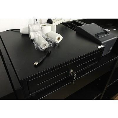 Cash Drawer & Epson Receipt Printer with Rolls