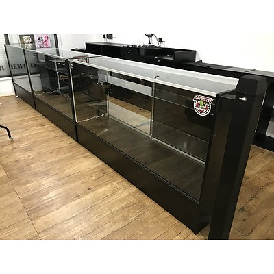 Black & Glass Shop Counters & Wall Displays