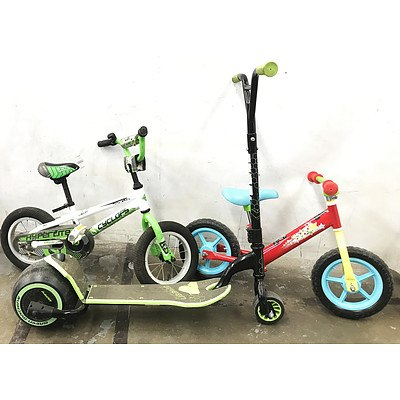 Kids Bikes & Scooter - Lot of 3