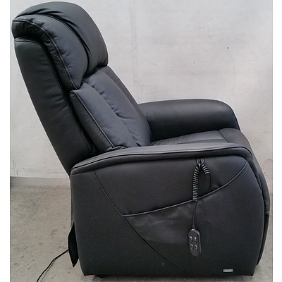 T Motion Electric Recliner/Lift Leather Armchair