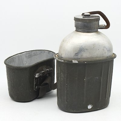 East German Mess Kit Includes Water Bottle and Container