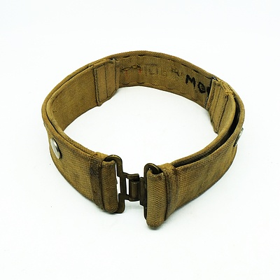 Vintage Military Belt with Air Force Badges