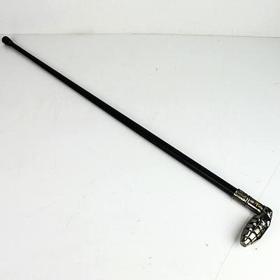 Embossed Grenade Shaped Walking Stick