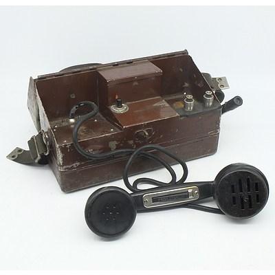 Metal Cased Field Telephone
