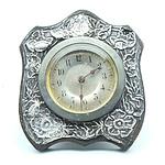 Sterling Silver Fronted Bedside Table Clock, Birmingham 1911