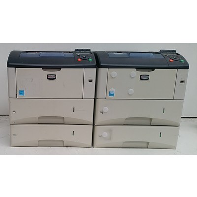 Kyocera Eco-Sys FS-3920DN Black & White Laser Printer - Lot of Two
