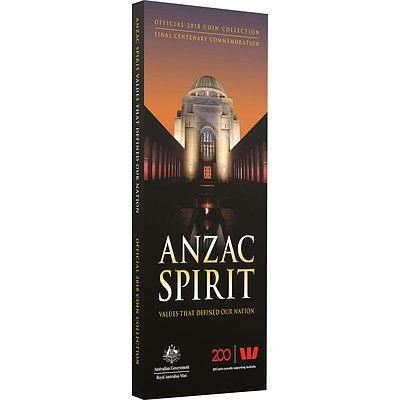 2018 Anzac Spirit Lives 15 Coin Set