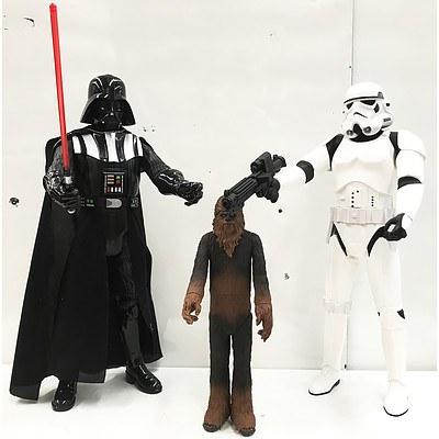 Star Wars Darth Vader, Chewbacca & Stormtrooper Figurines