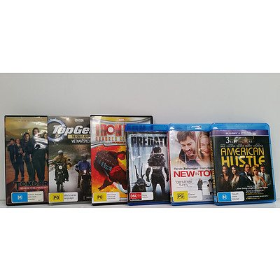 Approximately 300 DVD & Blu-Ray Movies & Games
