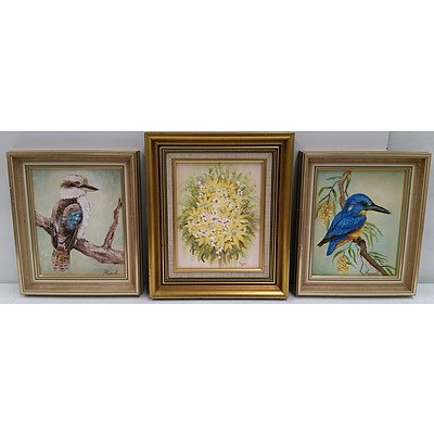 Framed Paintings & Picture Frame Lot Of 13
