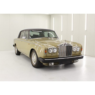 8/1980 Rolls-Royce Silver Shadow II 4d Saloon Willlow Gold with D/Brown Everflex Roof 6.8L