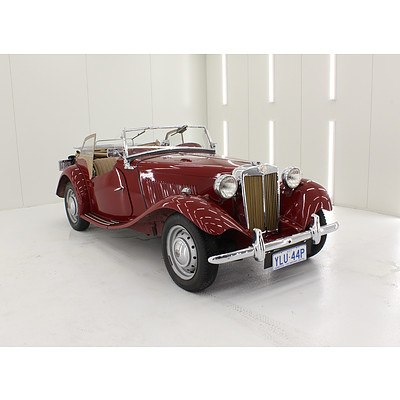 01/1950 M.G. TD 2d Roadster Autumn Red 1.25L