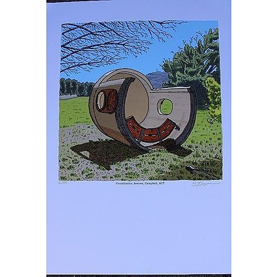 Constitution Avenue, Campbell ACT  Bus Shelter Print