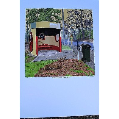 Vowels Crescent, Florey  Bus Shelter Print