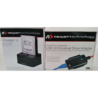 Newer Technology USB 3.0 Universal Drive Adapter and Voyager USB 3.0 HDD Docking Solution