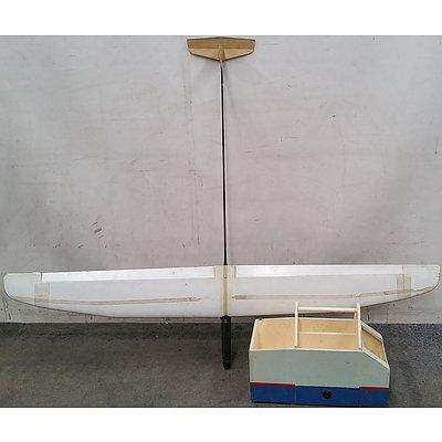 Model Glider and Custom Made Tool/Equipment Caddy