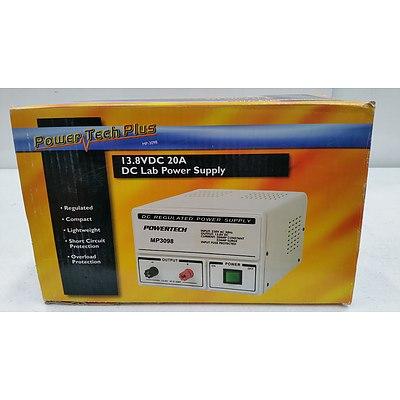 Powertech MP-3098 13.8 Volt DC 20 Amp Lab Power Supply - New