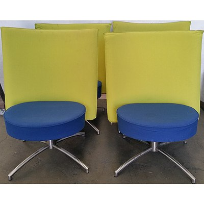 Retro Swivel Chairs - Lot of Four