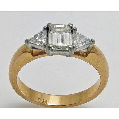 18ct Gold Diamond Ring 0.80cts
