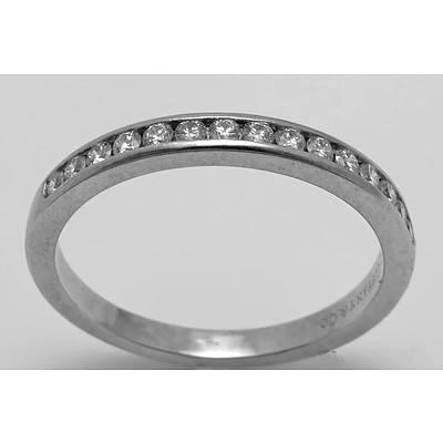 Tiffany Half Circle Ring Platinum