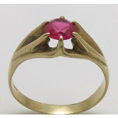 Vintage 9ct Rose Gold Signet Ring