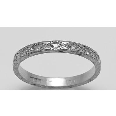 Vintage Diamond Ring-18ct White Gold