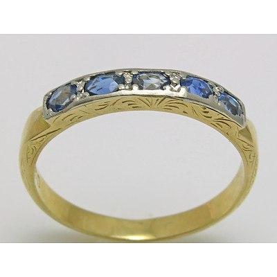 Vintage Platinum & 18ct Gold Ring - Sapphires