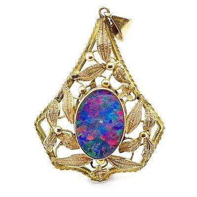 Vintage Australian Opal Pendant
