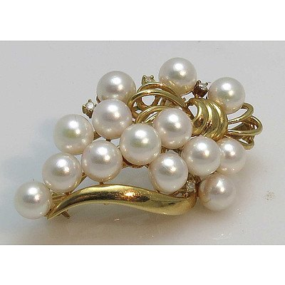 14ct Gold Brooch/Pendant/Pearl Enhancer