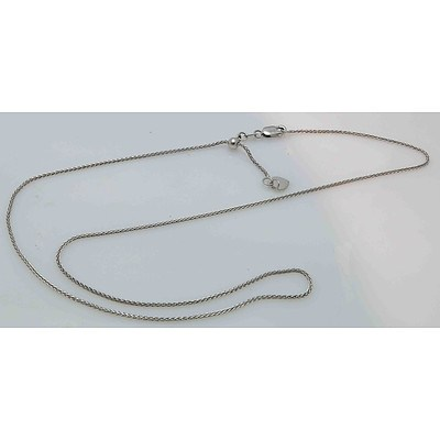 Italian 9ct White Gold Foxtail Chain