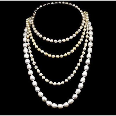 Collection of 3 Cultured Pearl Necklaces
