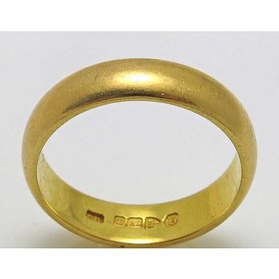 Vintage 22ct Gold Plain Ring
