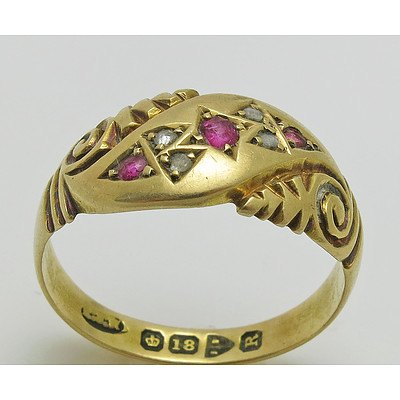 Antique (Late Victorian) Ruby & Diamond Ring