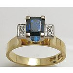 18ct Gold Natural Sapphire & Diamond Ring