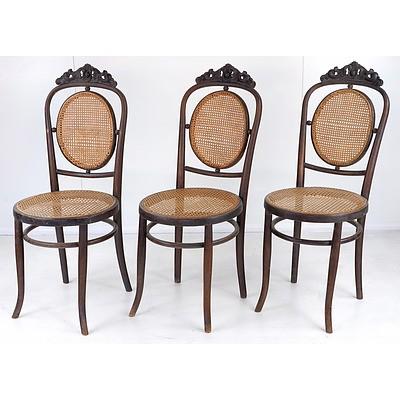 Six Fischel European Bentwood Chairs Circa 1900