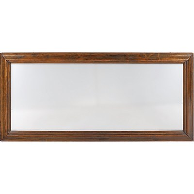 Large Antique Style Kauri Pine and Bevelled Edge Mirror